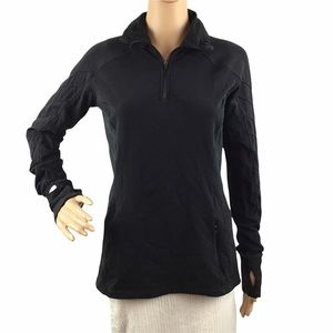 Lululemon Face The Frost 1/2 Zip Pullover Black Size 8 Long Sleeve Running